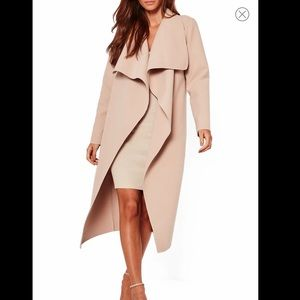 Missguided waterfall duster coat